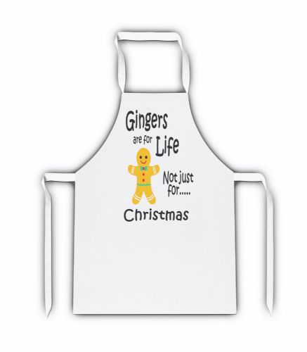 Gingers Are For Life Not Just Christmas Funny White Adult Apron